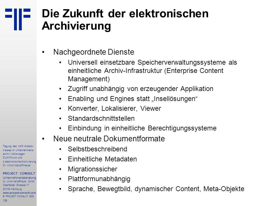 Die Zukunft der elektronischen Archivierung