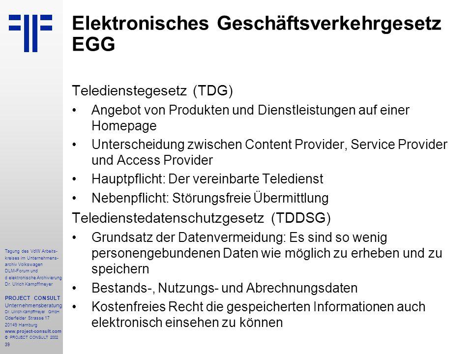 Elektronisches Geschäftsverkehrgesetz EGG
