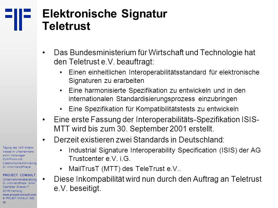 Elektronische Signatur Teletrust