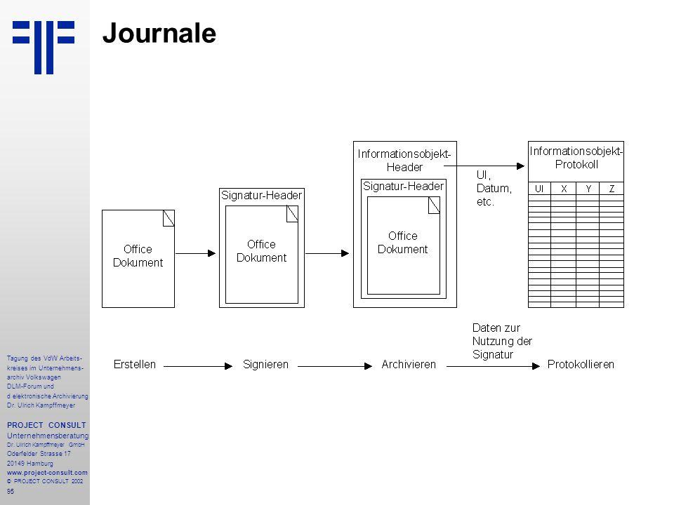 Journale PROJECT CONSULT Unternehmensberatung Tagung des VdW Arbeits-