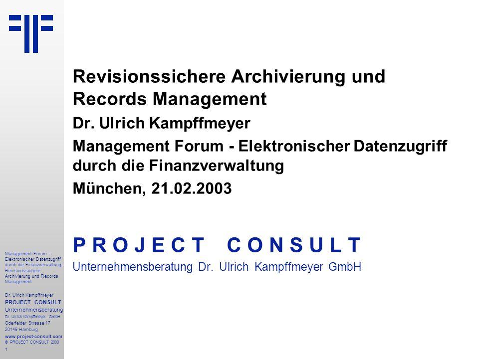 Revisionssichere Archivierung und Records Management