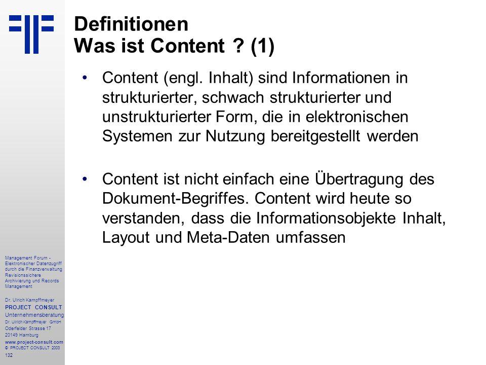 Definitionen Was ist Content (1)