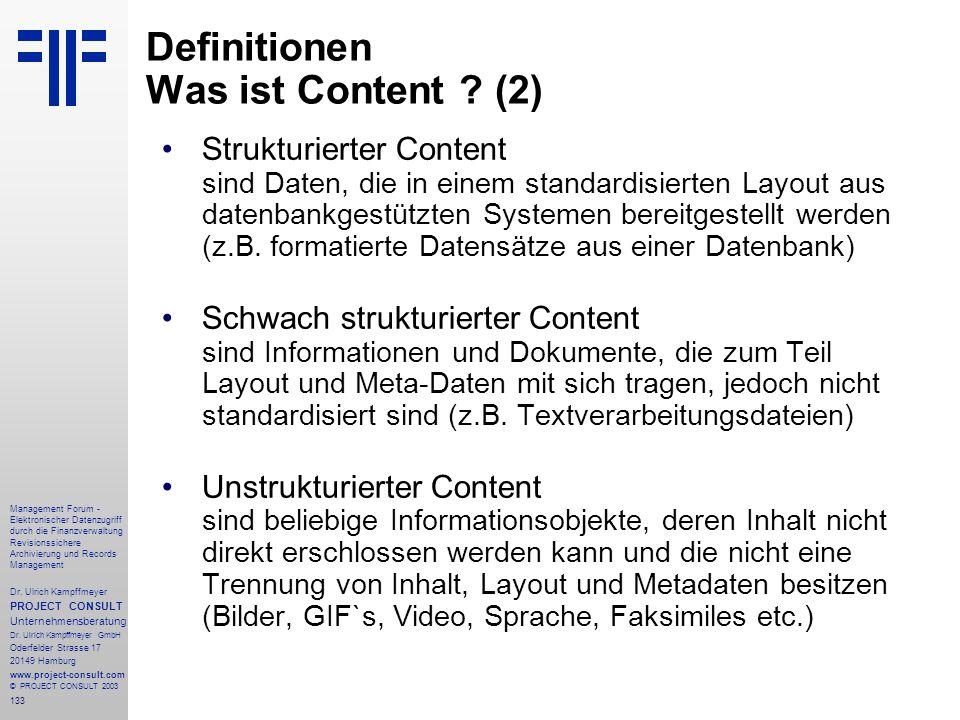 Definitionen Was ist Content (2)