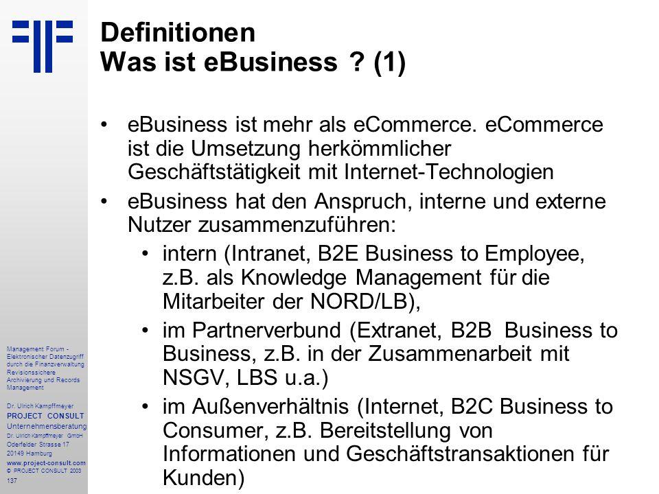 Definitionen Was ist eBusiness (1)