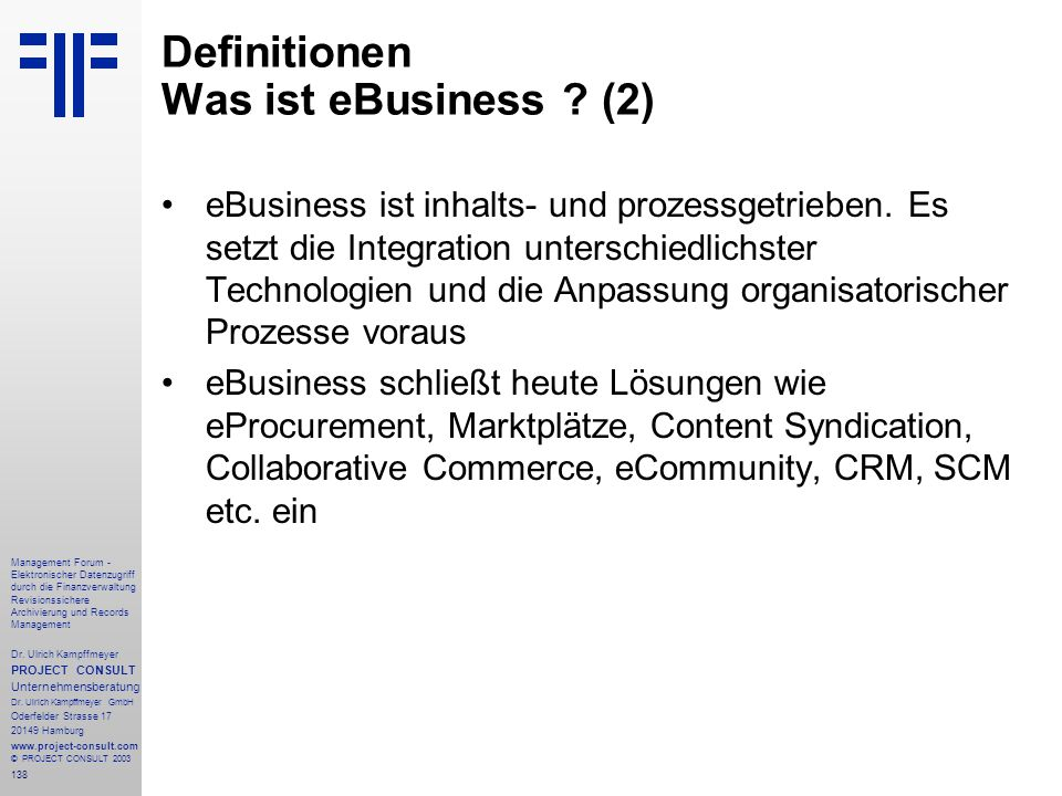 Definitionen Was ist eBusiness (2)
