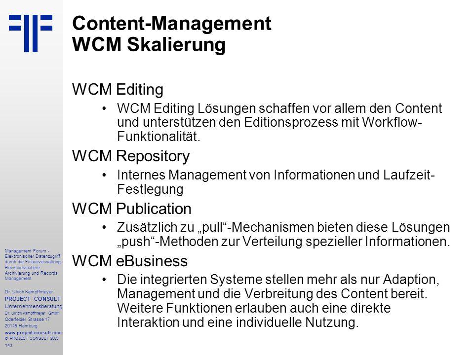Content-Management WCM Skalierung