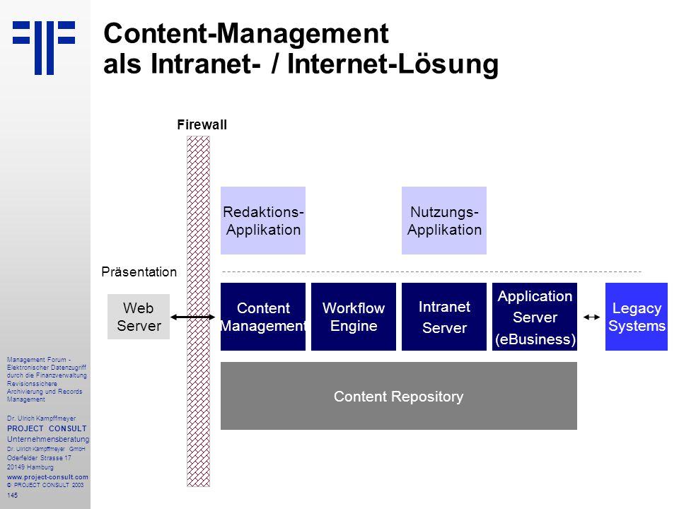 Content-Management als Intranet- / Internet-Lösung