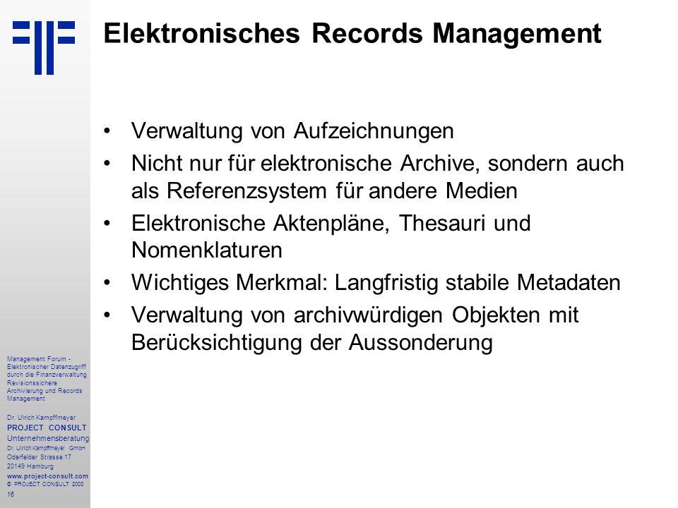 Elektronisches Records Management