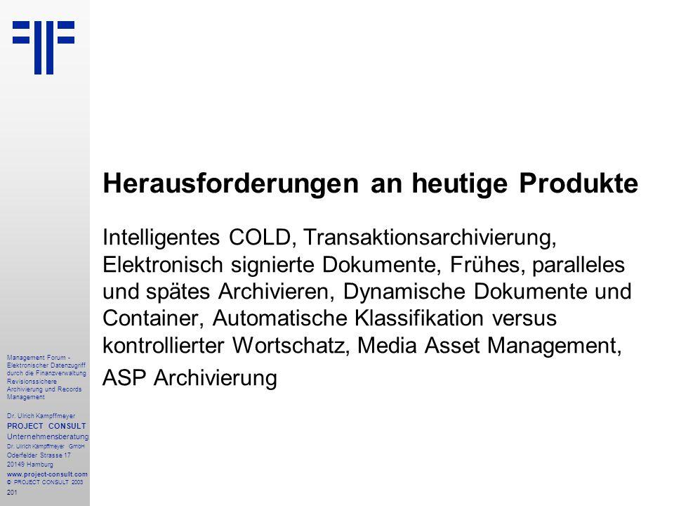 Herausforderungen an heutige Produkte
