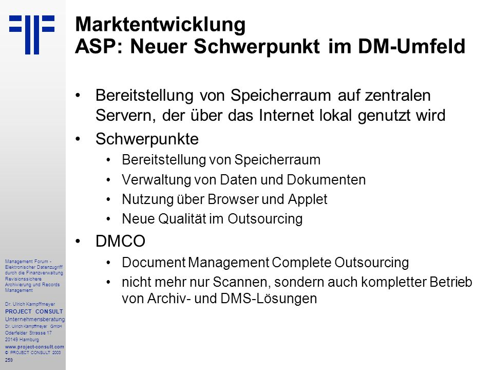 Marktentwicklung ASP: Neuer Schwerpunkt im DM-Umfeld