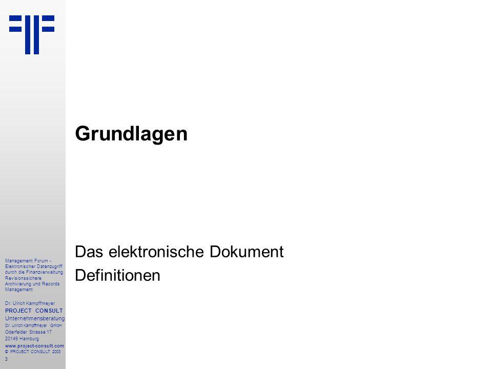 Das elektronische Dokument Definitionen