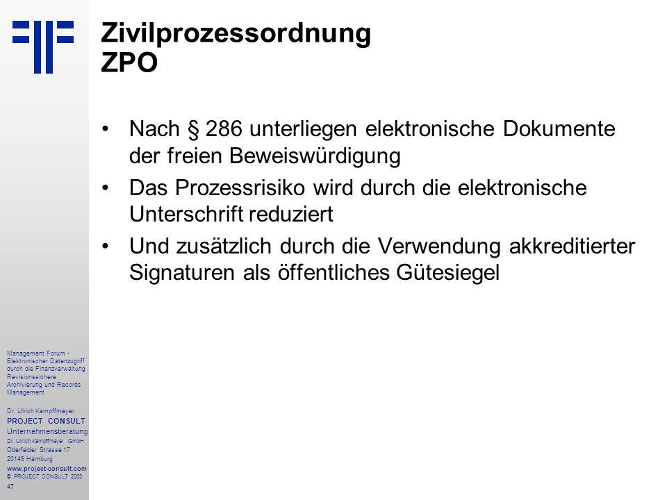 Zivilprozessordnung ZPO