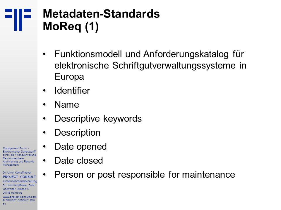 Metadaten-Standards MoReq (1)