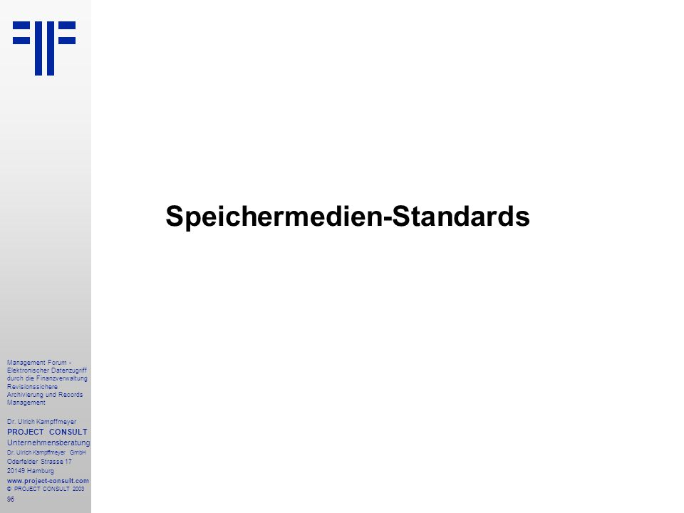 Speichermedien-Standards