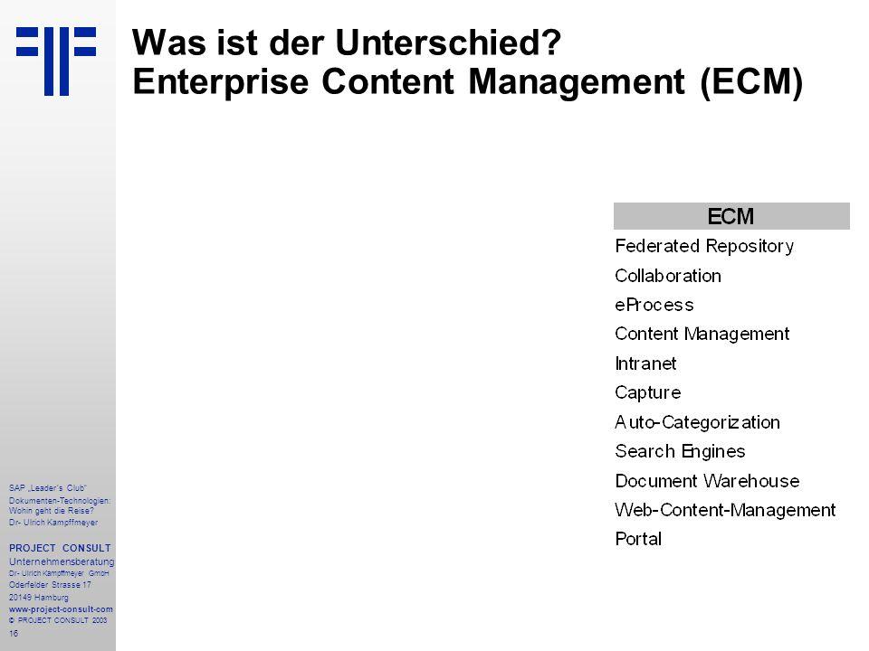 Was ist der Unterschied Enterprise Content Management (ECM)