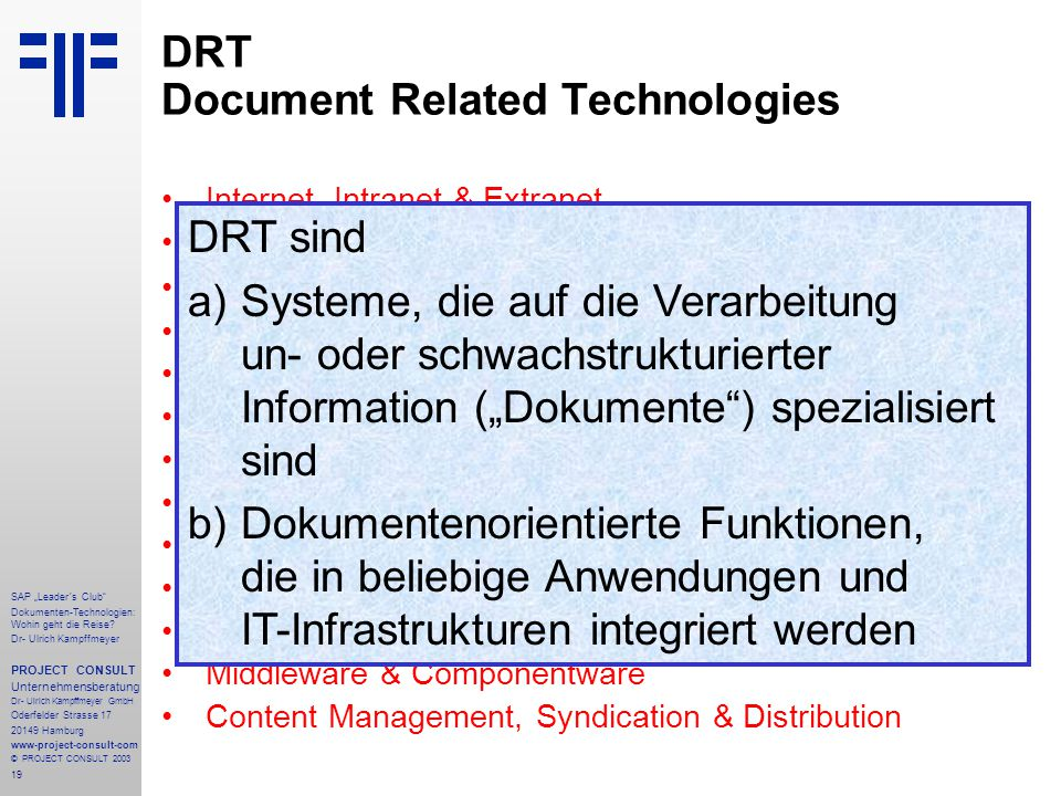 DRT Document Related Technologies