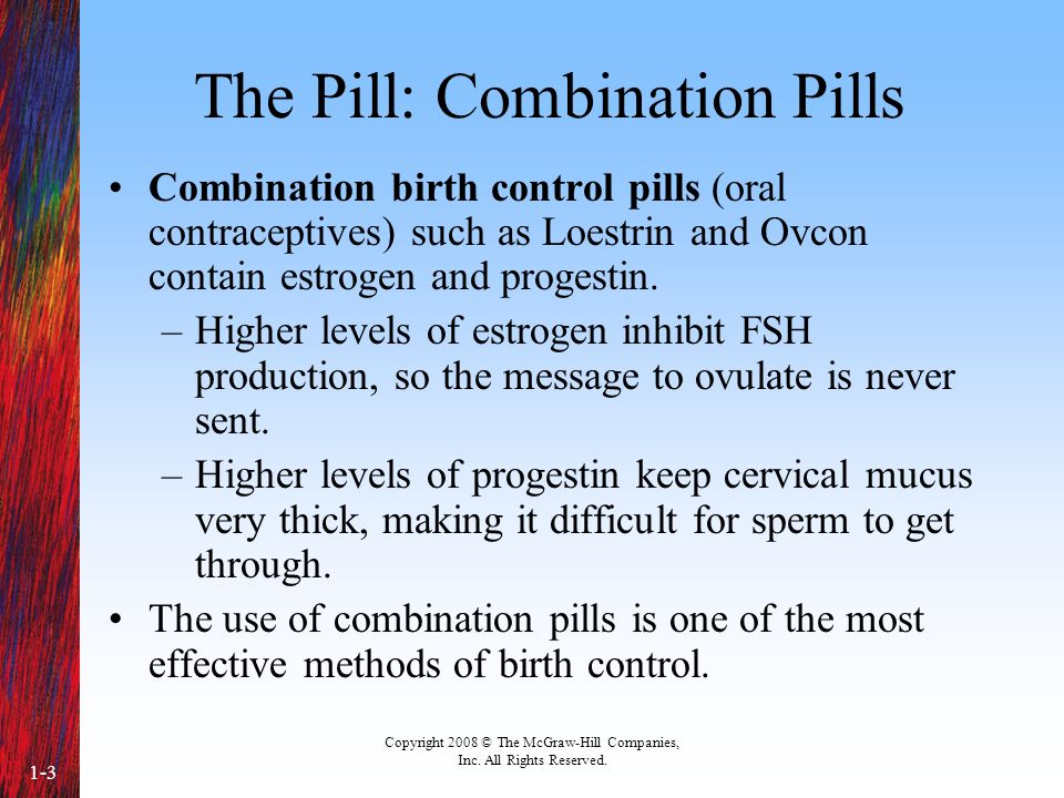 The Pill: Combination Pills