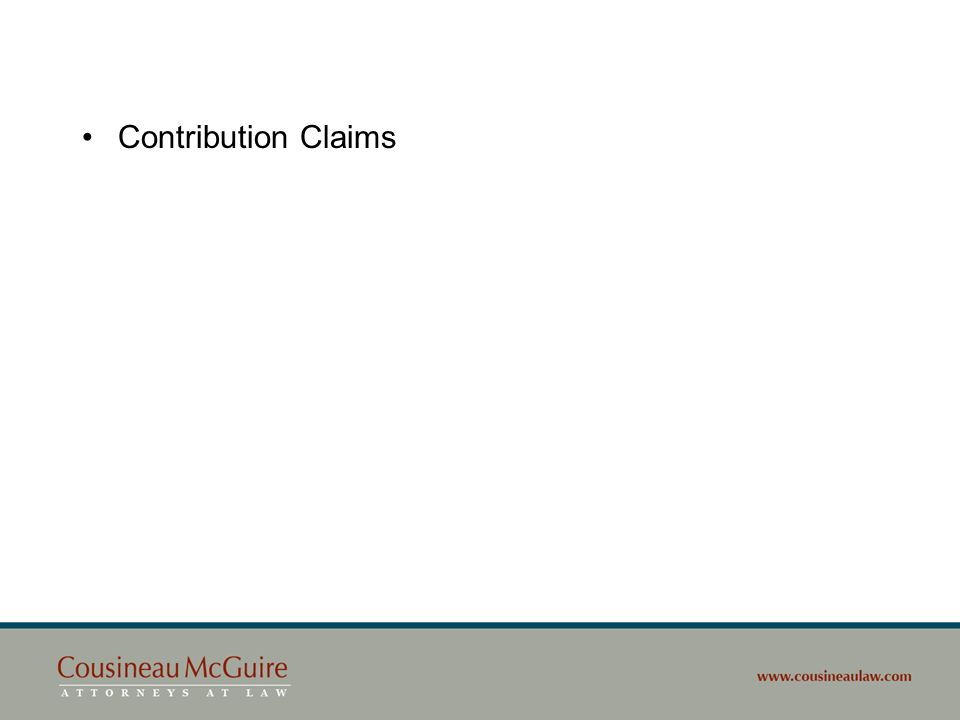 Contribution Claims