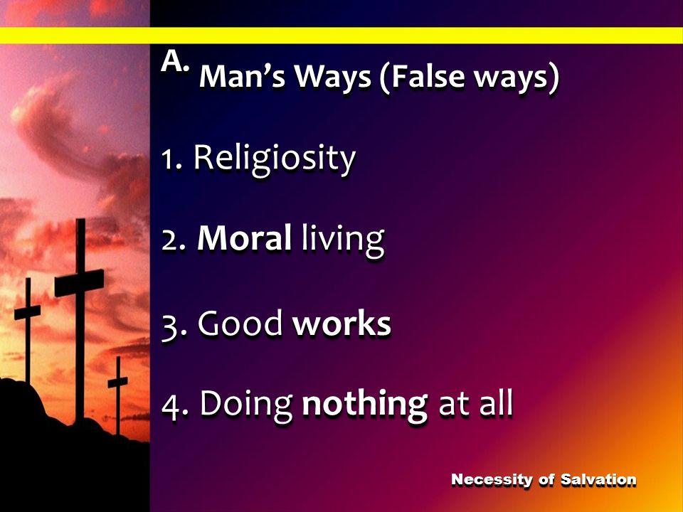Necessity of Salvation
