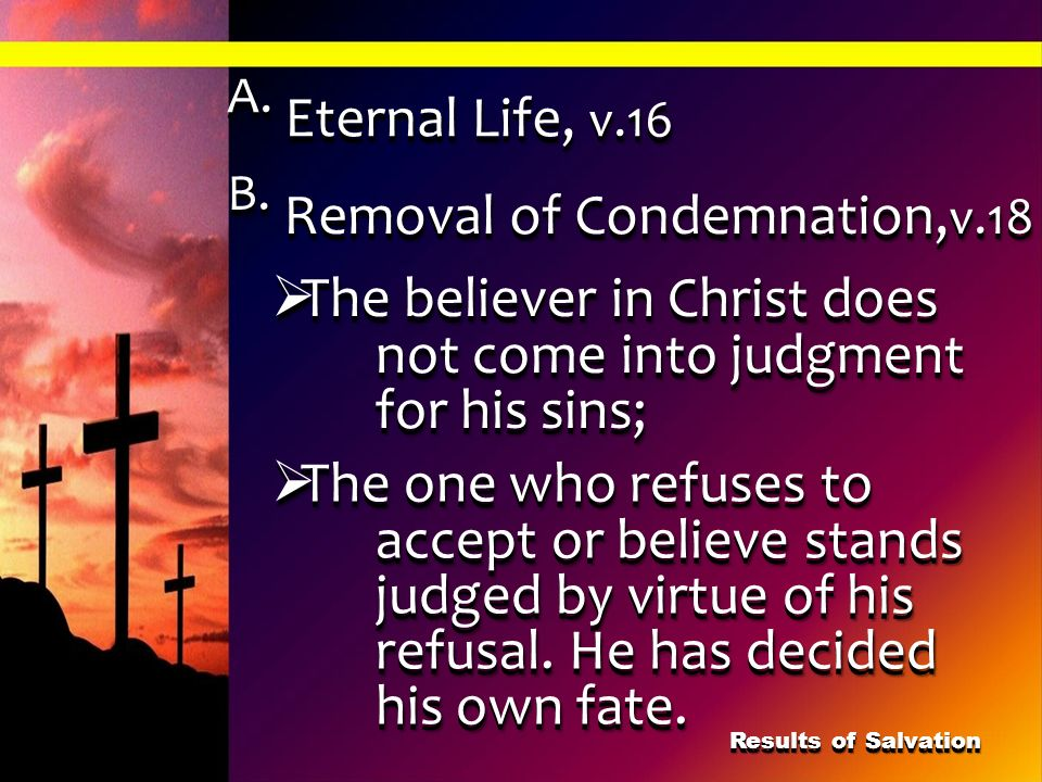 B. Removal of Condemnation,v.18
