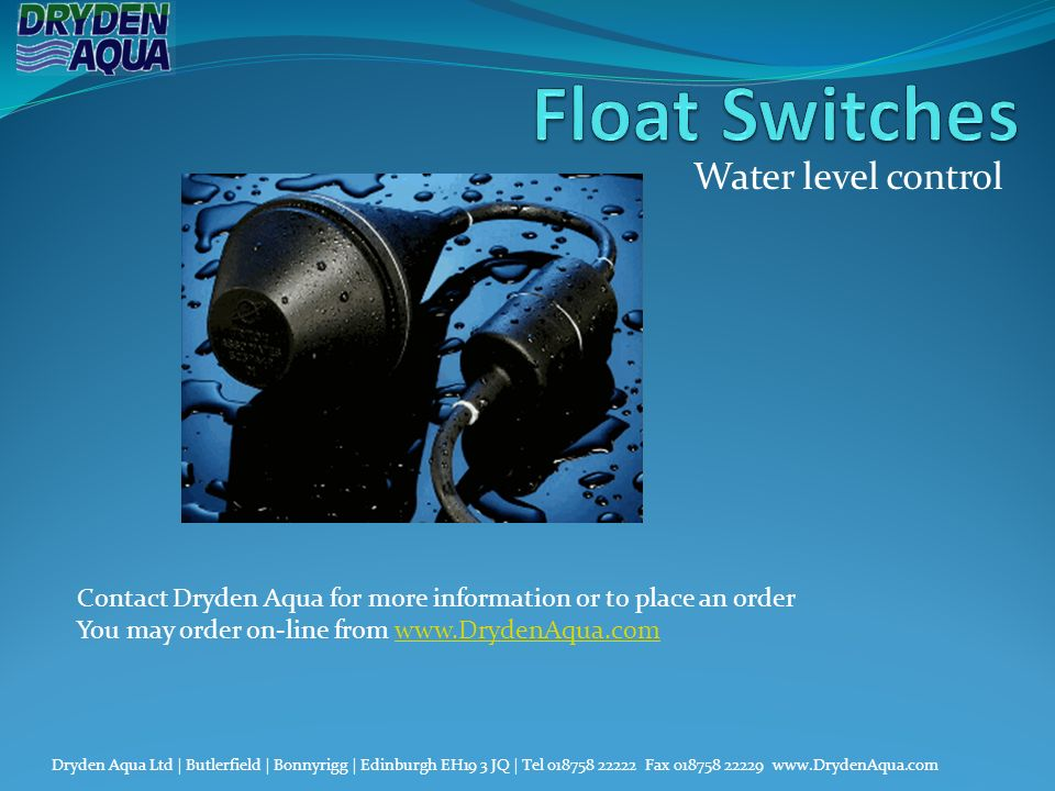 Float Switches Water level control