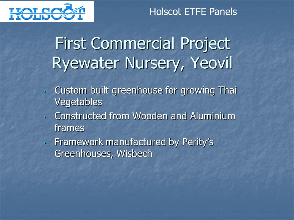 First Commercial Project Ryewater Nursery, Yeovil