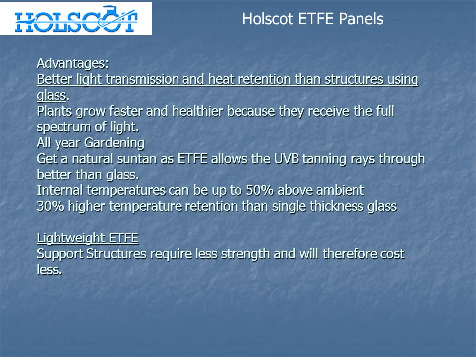 Holscot ETFE Panels