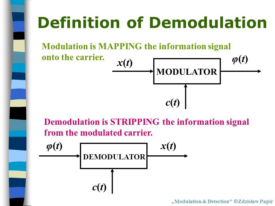 Definition of Demodulation