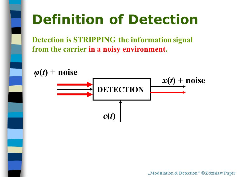 Definition of Detection