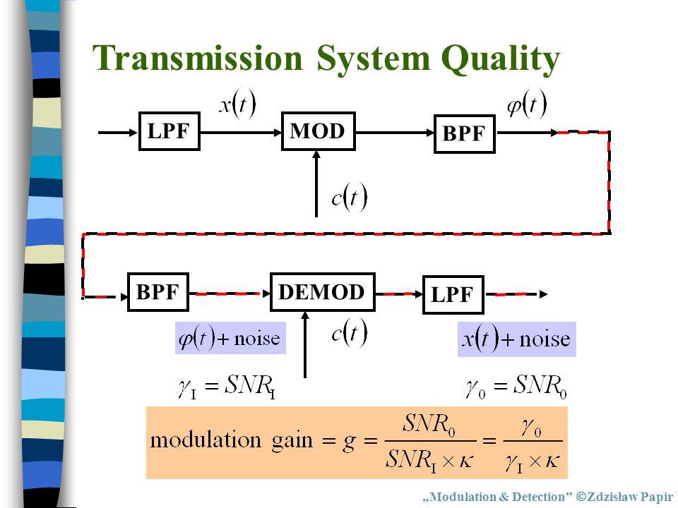 Transmission System Quality