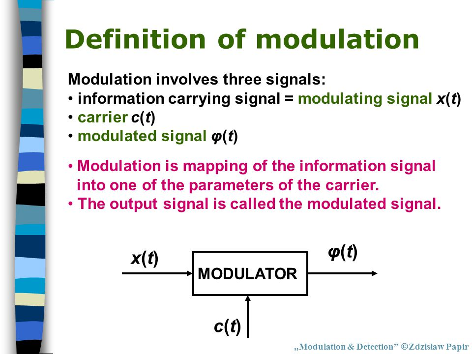 Definition of modulation