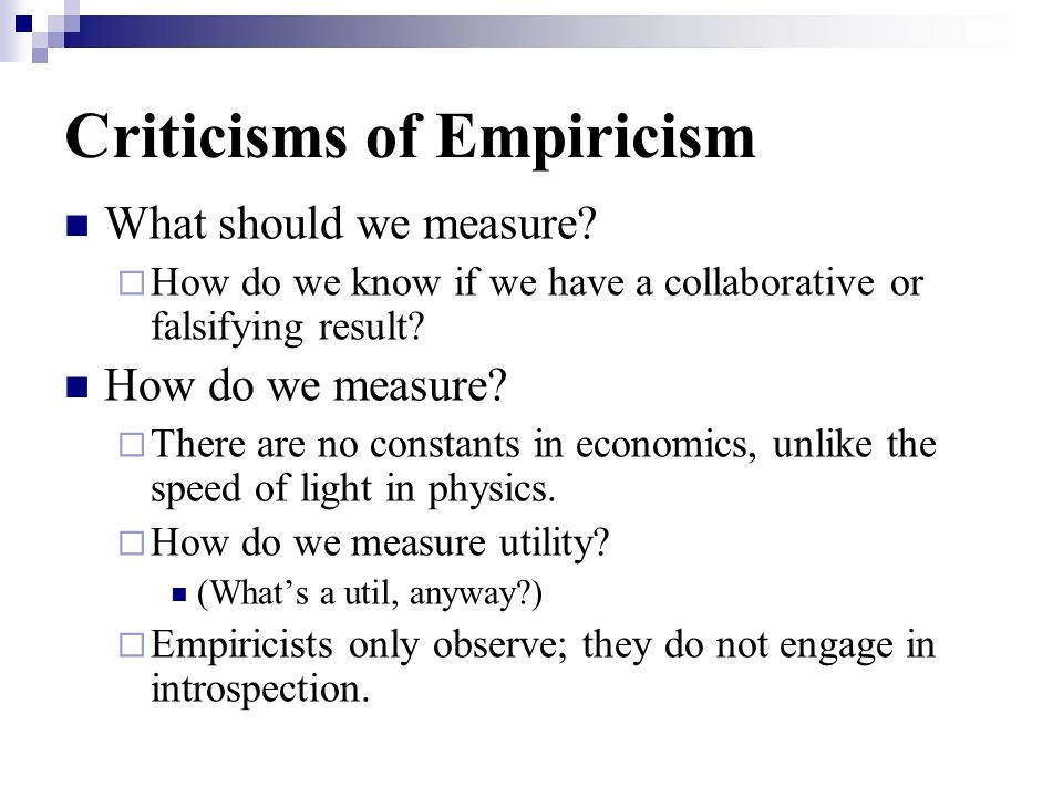 Criticisms of Empiricism