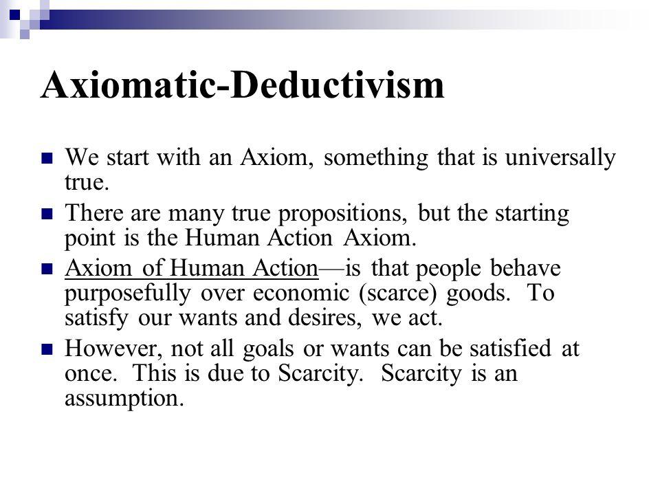 Axiomatic-Deductivism