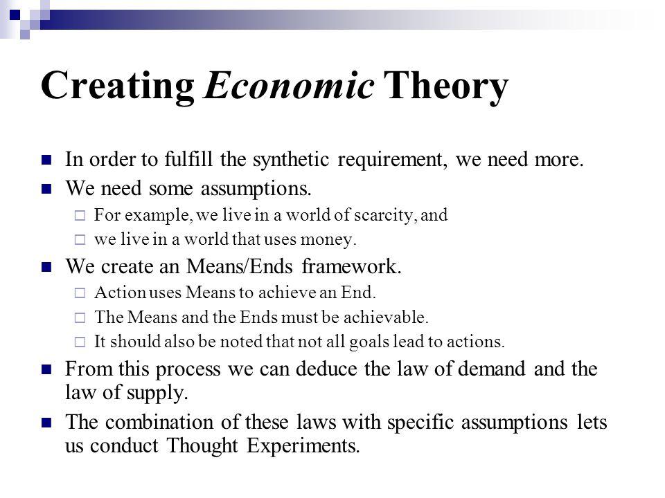 Creating Economic Theory
