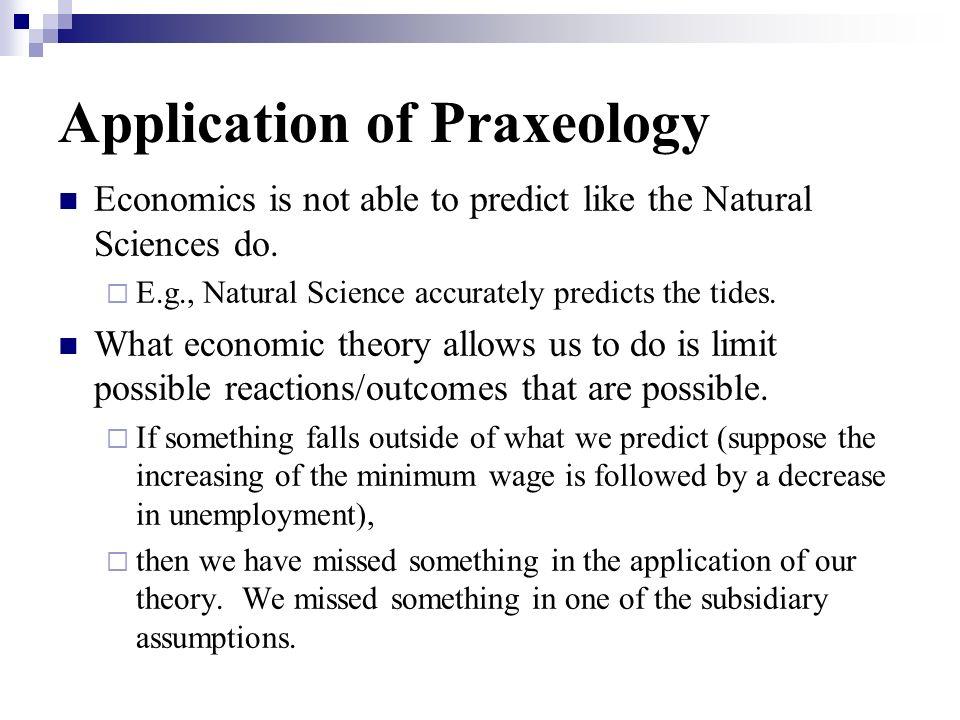 Application of Praxeology