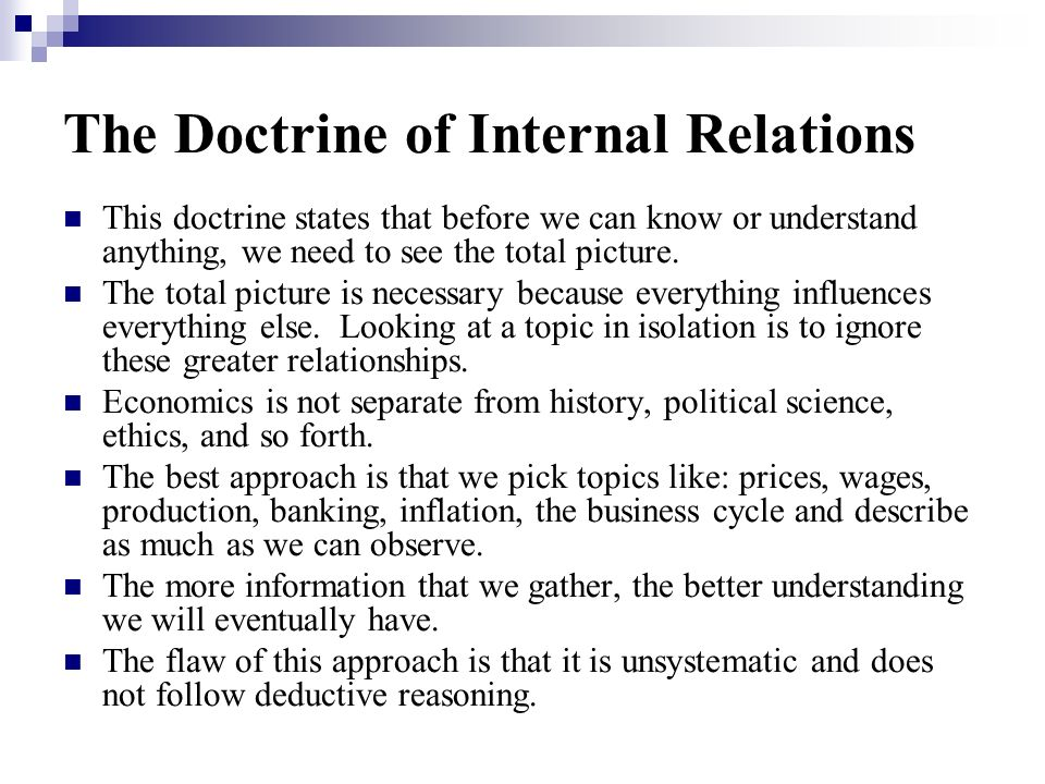 The Doctrine of Internal Relations