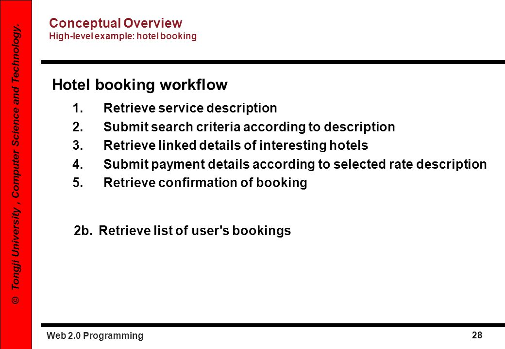 Hotel booking workflow