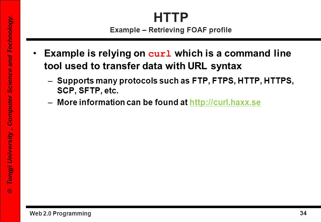 HTTP Example – Retrieving FOAF profile