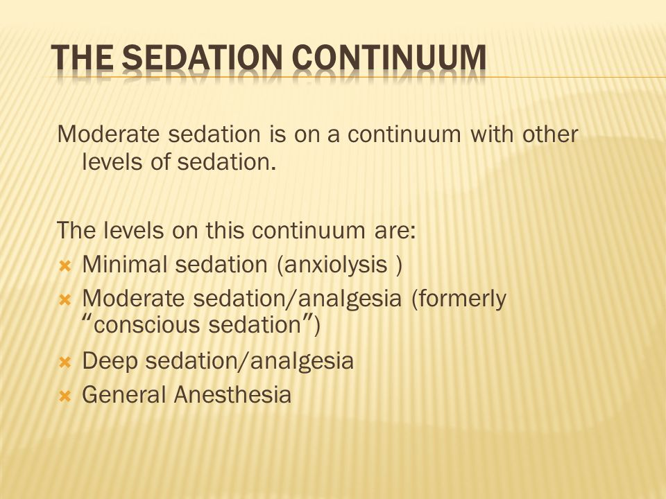 The Sedation Continuum