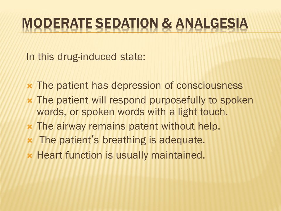 Moderate Sedation & Analgesia