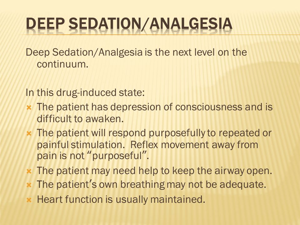 Deep Sedation/Analgesia