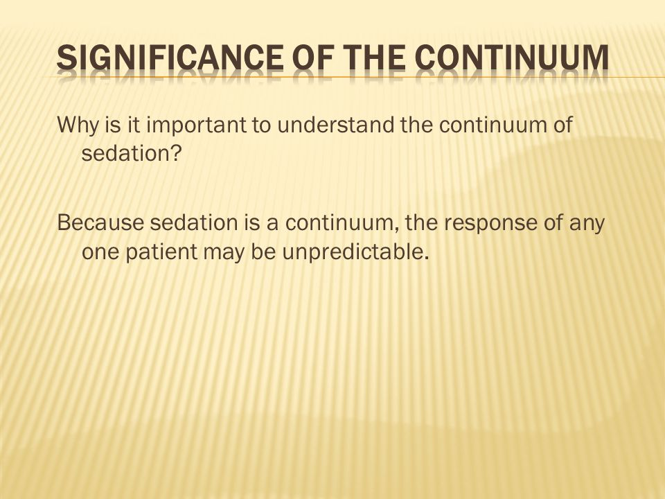 Significance of the Continuum