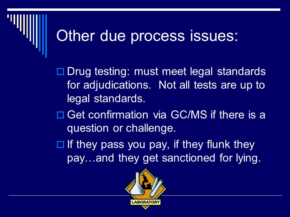 Other due process issues: