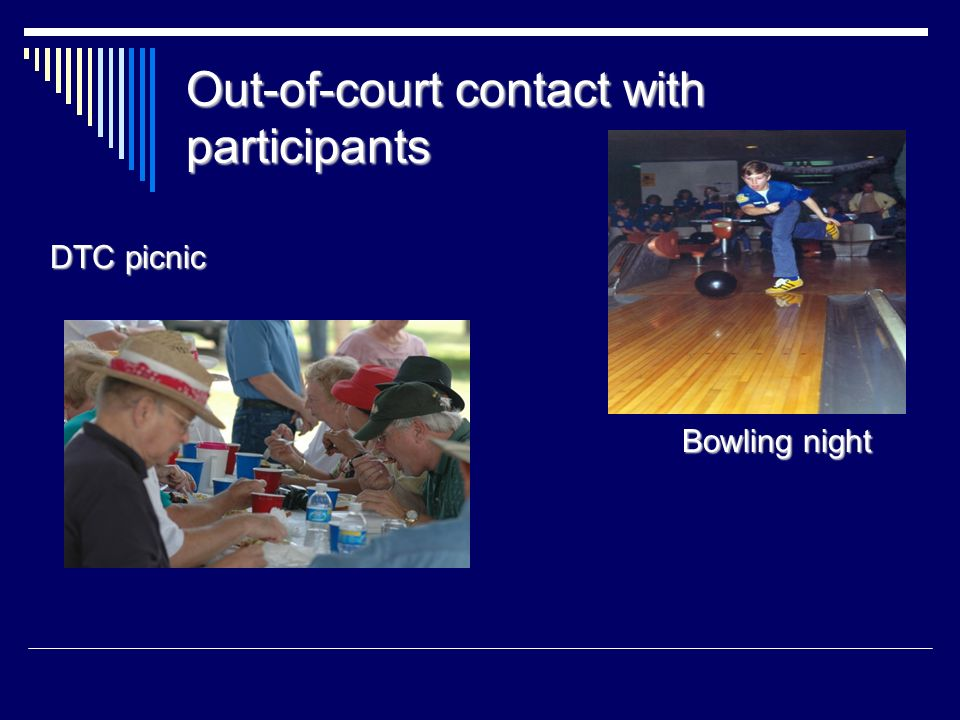Out-of-court contact with participants