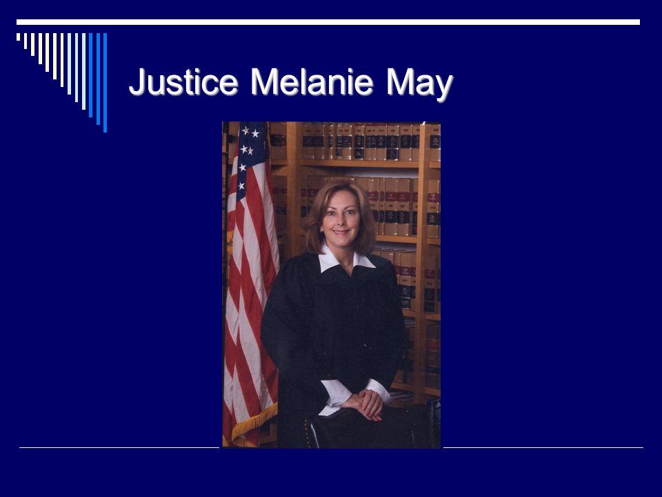 Justice Melanie May 42