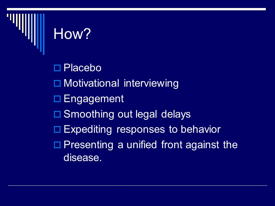 How Placebo Motivational interviewing Engagement