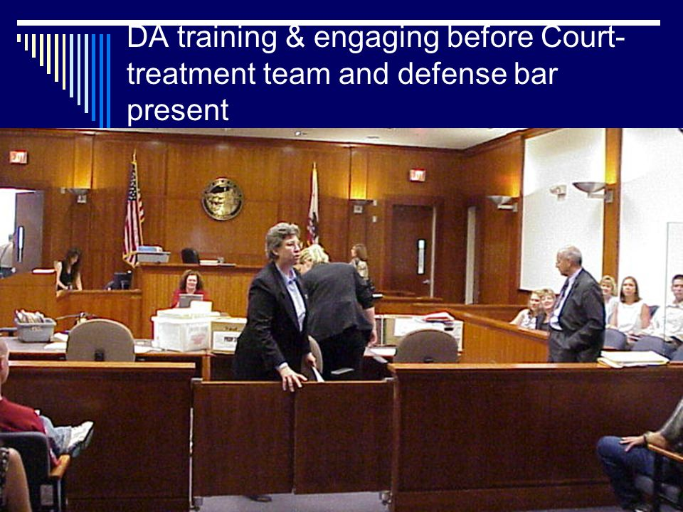 DA training & engaging before Court- treatment team and defense bar present