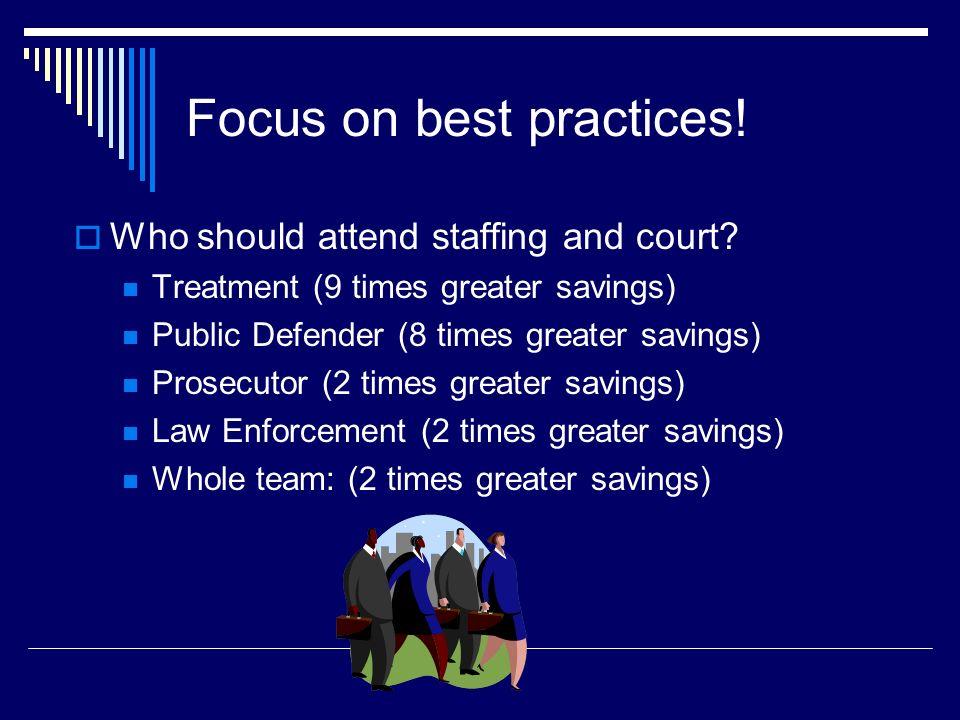 Focus on best practices!
