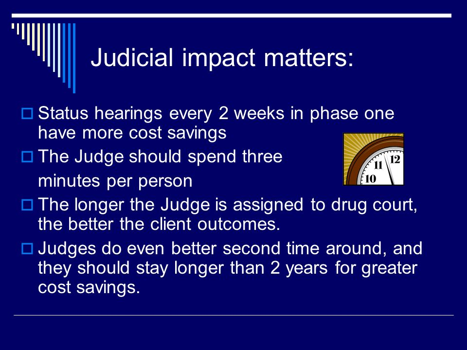 Judicial impact matters: