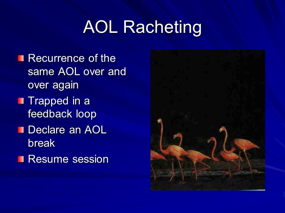 AOL Racheting Recurrence of the same AOL over and over again